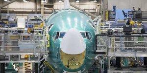 Aéronautique, chaîne d'assemblage, Boeing, 737, Renton, Washington, avion,