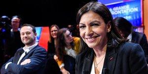 Anne Hidalgo, maire de Paris, avant un débat entre 7 des 8 candidats en lice pour les municipales de Paris, diffusé sur LCI le 4 mars 2020