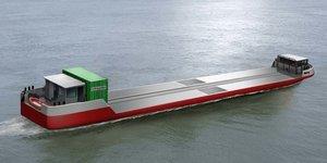 Barge HydrogEne Sogestran Le Havre