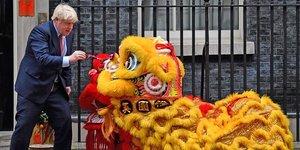 Boris Johnson à Londres pendant les festivités du Nouvel An chinois, le 24 janvier.