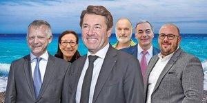Christian Estrosi, Kandel, Damiano, Governatori, Allemand, Vardon, estrosi2020, municipales, liste