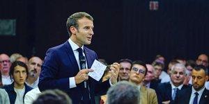 Emmanuel Macron, le 3 octobre à Rodez, réforme des retraites
