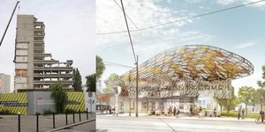Gare Clichy-Monfermeil, Composite