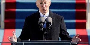 Investi a la presidence des etats-unis, biden appelle au rassemblement