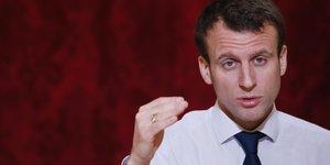 Le ministre de l'Economie Emmanuel Macron le 22 mars 2016