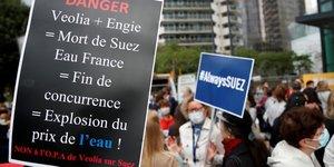 Suez, fusion, Veolia, Engie, OPA, manifestations